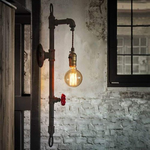 Editon Rohr Vintage Wandleuchte Industrielle Beleuchtung Retrolampe
