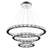 LED Kristall Design Hängelampe Deckenlampe Kreative Kronleuchter Ring Kronleuchter