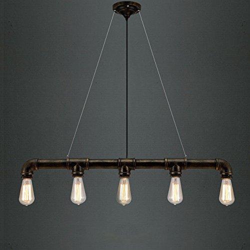 Rohr Pendelleuchte Antique Brass Editon Hängeleuchter 5 Lampenfassungen Kronleuchter Industrielle Beleuchtung Retrolampe