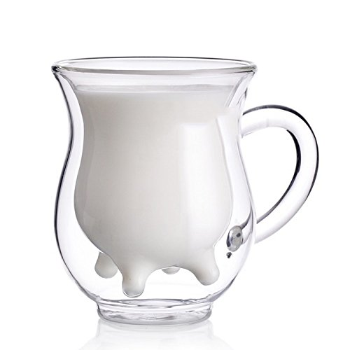 Doppelwandiges Kreatives Kalb Kaffee Milch Becher 2er Set
