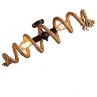 Retro Hanfseile Deckenleuchte Ring Deckenlampe Dekorative Beleuchtung Leuchter Eisen Hemp Seil