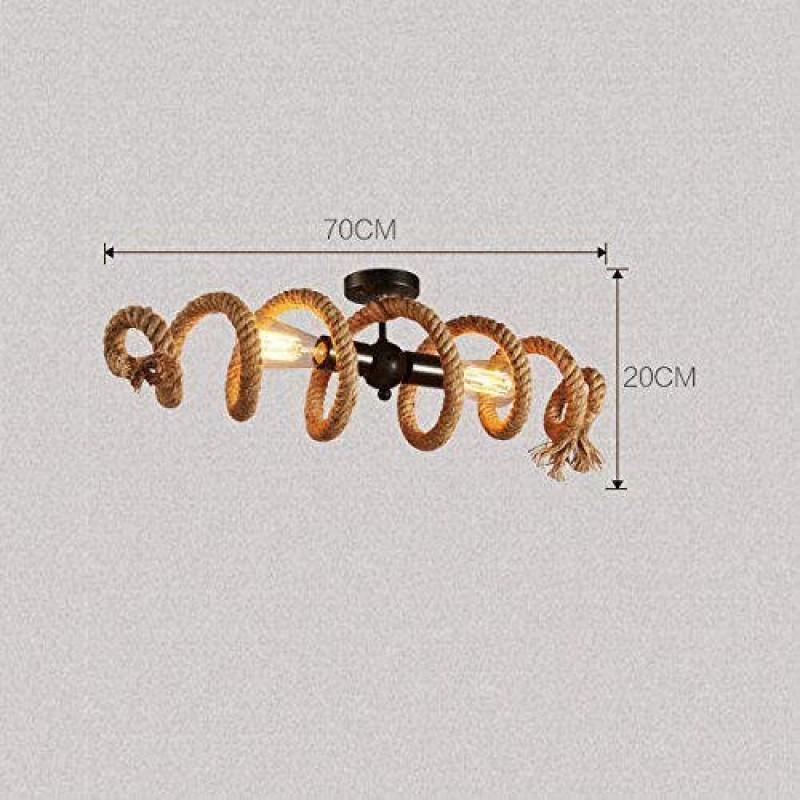Gr/ö/ße : 6heads LAZ Weinlese-Leuchter Industrie-Anh/änger-Licht Kreative Eisen Hanf-Seil Retro Metall H/ängelampe for Kitchen Island Farmhouse Schlafzimmer Warehouse