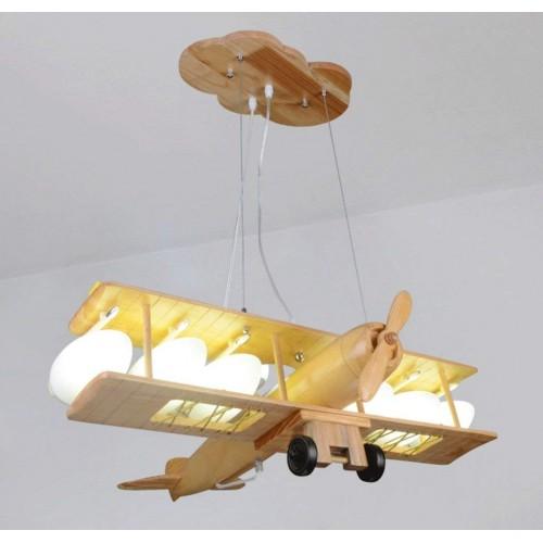Massivholz Fernbedienung Flugzeug Kronleuchter Kreative Kinderzimmer Persönlichkeit Junge Schlafzimmer