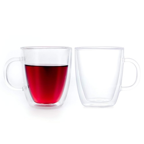 Extra-kratzfestes Borosilikatglas Doppelwandige Gläser 2er Set