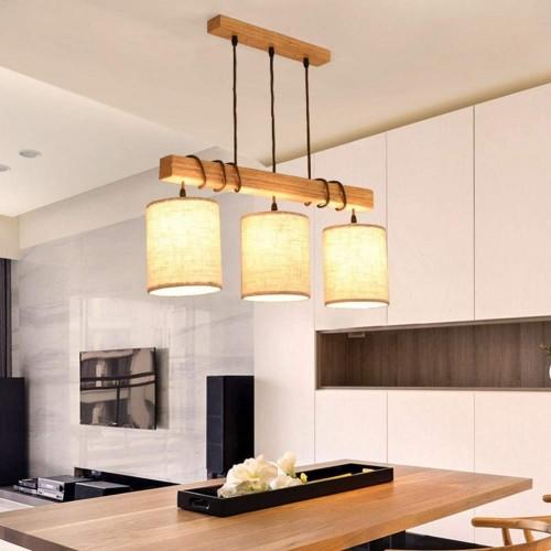 Holz hängende Pendelleuchten Kreativität Restaurant Kronleuchter LED Pendel Lampe