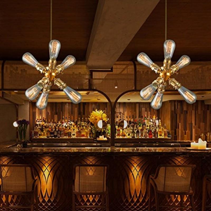 Modern Deckenlampe Kupfer Kronleuchter Wohnzimmer Lampe ...
