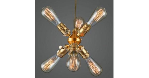 Led Birne Kronleuchter ~ Modern deckenlampe kupfer kronleuchter wohnzimmer lampe einzelkopf