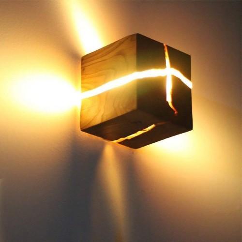 Kreative Hölzerne Riss Wandleuchte LED Wandlampe Nachttischlampe Nachtlicht
