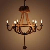 Elegant & Modern Chandelier - Hölzerner kreativer industrieller Kerzenständer-Leuchter
