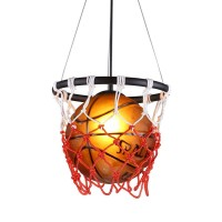 Creative Basketball Pendelleuchte E27 Lampenfassung Home Loft Deco Deckenlampe