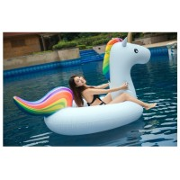 Riesiges Einhorn Aufblasbarer Pool Floß Schwebebett Wasserspielzeug