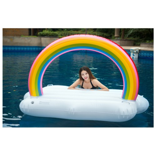 Regenbogen Wolke Aufblasbarer Pool Floß Schwebebett Wasserspielzeug