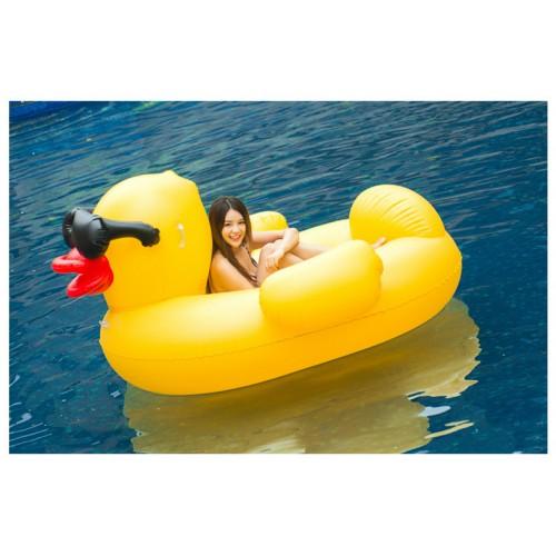 Riesige Gelb Ente Aufblasbarer Pool Floß Schwebebett Wasserspielzeug