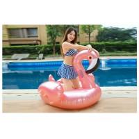 Rosegold Flamingo Aufblasbarer Pool Floß Schwebebett Wasserspielzeug