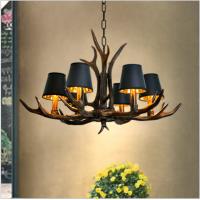 Retro Geweihlampe im amerikanischen Stil Nostalgisches Bekleidungsgeschäft Internetcafé Kronleuchterharzlampe