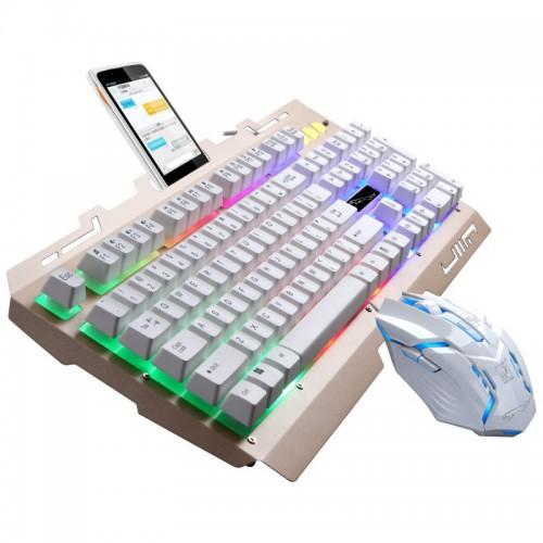 Chasing Leopard G700 Tastatur-Maus Kabelgebundenes USB-Set Beleuchtung Federung Mechanischer Griff Game Keyboard Suite