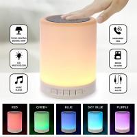 Nachtlicht-Bluetooth-Lautsprecher, tragbare drahtlose Bluetooth-Lautsprecher, Berührungssteuerung, Farb-LED-Lautsprecher, Nachttischleuchte, Freisprecheinrichtung / TF-Karte / AUX-Eingang Unterstützt