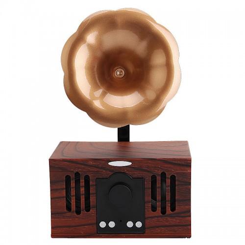Retro-Audio-Freisprecheinrichtung Telefonkarte U-Platte nostalgisch kleiner antiker Phonograph mit drahtlosem Bluetooth-Lautsprecher