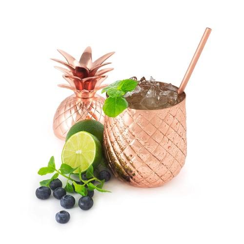 Ananas Tassen,Moskau Maultier Becher Copper Tassen 304 Edelstahl 500ml