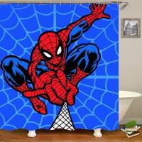3D Spiderman Badezimmer Duschvorhang Cartoon Anime Polyester Stoff Wasserdicht Duschvorhang