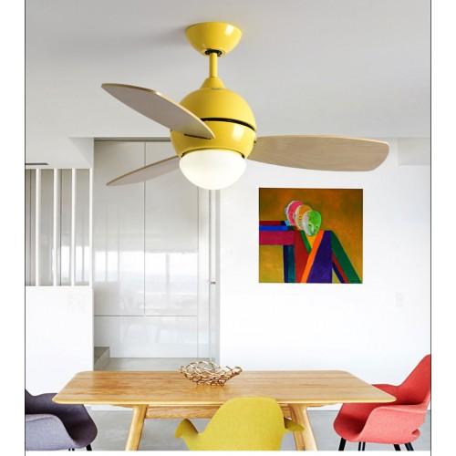 Elektrischer Ventilator-Leuchter-einfache moderne 3 Ventilator-Leuchter der Holz-Flügel-Kinder 35 Zoll führte Deckenventilator-Licht mit Fernbedienung