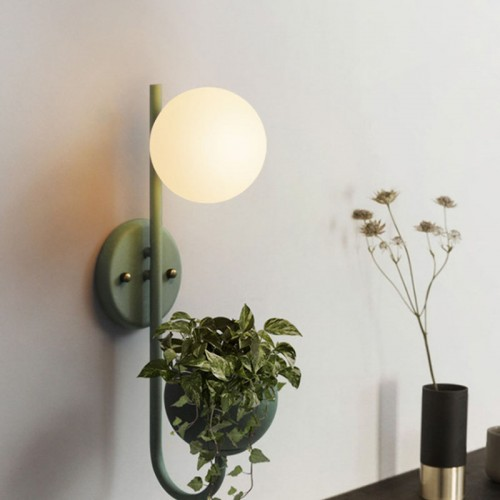 Kreativ Pflanze Wandlampe, Bedside Leselicht LED Schlafzimmer Gang Macaron Wand Gang Gang Wandlampe