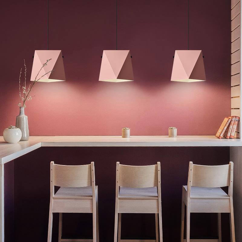 Wohnzimmer Restaurant | Eisenkunst Led Leuchter Einfach Macaron Farbe Passend Fur Wohnzimmer
