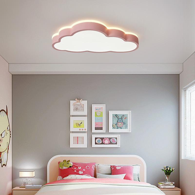 LZQ LED 48W Deckenlampe Kinderzimmer Dimmbar Wolken Deckenleuchte Wohnzimmerleuchten Schlafzimmer Lampe mit Fernbedienung