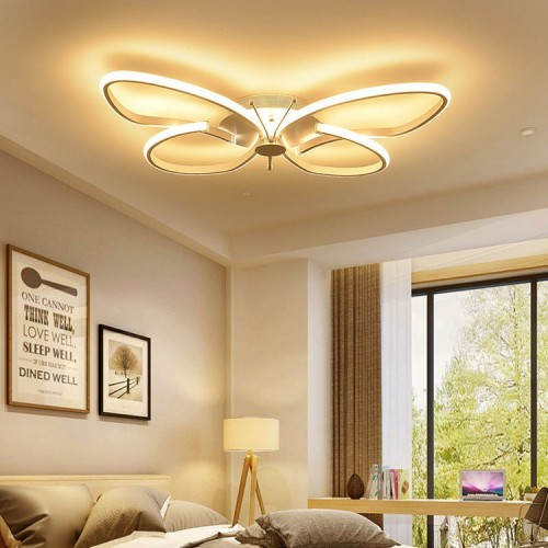 LED Deckenleuchte Kinderzimmer Deckenlampe, Fernbedienung Dimmbare Decken-Beleuchtung, Modern Mode leuchte, Schmetterlinge Kreative Design, Schön Schlafzimmer lampe