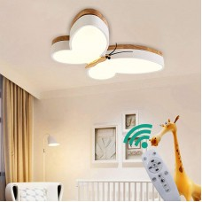 LED Deckenlampe Dimmbar Kinder Kinderzimmer Lampen Holz Schmetterling Deckenleuchte 30w, Metall Acryl-schirm Kronleuchter  Decken Leuchten