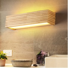 LED Wandleuchte holz,Moderne Wandlampe Holz Flurlampe Nachtlampe, Schlafzimmer Treppenhaus Flur Wandbeleuchtung Innenbeleuchtung