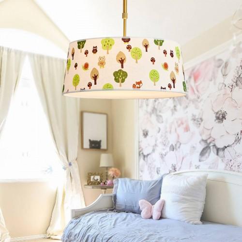 Deckenleuchte cartoon Textil,  E27 LED Lampe 35cm Durchmesser, Leuchte rund, Deckenlampe [Energieklasse A++]