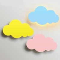 Kids Wolken Wandleuchte, Kinder WandlampeHolz Handarbeit A++ (Wolke rosa)