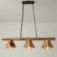 Pendelleuchte - Holz handgefertigt hängende Pendelleuchten Kreativität Restaurant Kronleuchter LED Pendel Lampe E27
