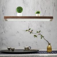 LED Hängelampe | Perfekt über dem Esstisch | Pendelleuchte Holz |  Edles Design  | als Regal verwendbar | Dimmbar (100 cm)
