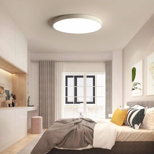 48W LED Deckenleuchte ultradünne 5 cm  Stufenlos Dimmbar Wohnzimmerlampe Esszimmerlampe Schlafzimmerleuchte Badezimmerlampe spritzwassergeschützt