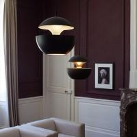 Deckenleuchte retro, Design Industrielle Vintage Deckenlampe Φ 35cm exkl. E27 Leuchtmittel, schwarz [Energieklasse A++]