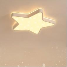 LED Deckenleuchte, funkelnder Glitzer-Stern-Lichteffekt, Ø45cm fünfzackige Stern Deckenlampe, Eingebaute 36W LED, 3600Lm, Mit Fernbedienung dimmbar, Top Glühen Lampe für Kinderzimmer und Schlafzimmer