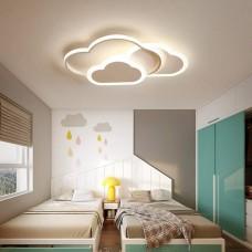 LED Deckenleuchte, Creative Cloud Deckenleuchte, Mit Fernbedienung Dimmbare 6cm Ultradünne Weiße Und Rosa Decken Lampe, for Kinderzimmer Kinderzimmer Schlafzimmer Wohnzimmer Dekoration Beleuchtung