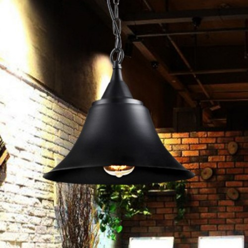 Pendelleuchte, Industrielle Vintage LED Pendellampe, Ø 30cm exkl. E27 max. 60W Leuchtmittel, Retro Hängelleuchte, schwarz [Energieklasse A++]
