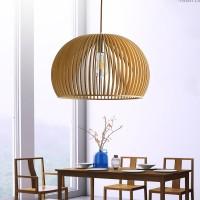 Pendelleuchte aus Holz - Moderne Designer Deckenleuchte