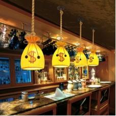 Kreative Geldbörse Kronleuchter Hanfseil Deckenleuchte Harz Restaurant Wohnzimmer Hängeleuchten