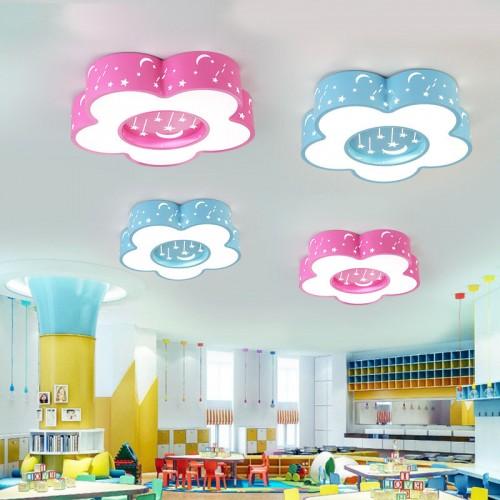 Kinder Decke lampen Kreis Sterne Mond Mädchen Jungen Zimmer Schlafzimmer Lampen 45*45*10 ㎝
