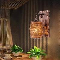Industrie Wandleuchten Loft Holz Retro für Restaurant, Gang, Korridor, Eingang, Bar, Cafe, Schlafzimmer Nachttisch Wandlampe