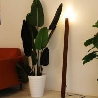 LED Design Stehlampe - Massivholz Stehlampe Lampenschirm aus Glas G9 Glühbirne 130 cm Standlampe für Wohnzimmer, Schlafzimmer, Büro