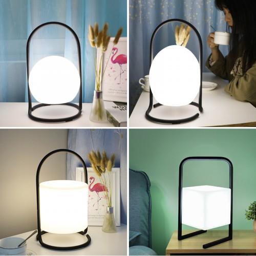 LED Akkuleuchte tragbar Tischleuchte, LED Outdoor Gartenlampe, Laterne, Lampe, LED Leuchte, Terrasse, Laterne drinnen und draußen, dimmbar, wiederaufladbar, USB Anschluss