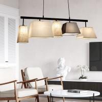 Modern Deckenlampe Holz Pendelleuchte Esstisch Deckenleuchte Wohnzimmer Lampe E27 Decke Kronleuchter Balkon Schlafzimmer