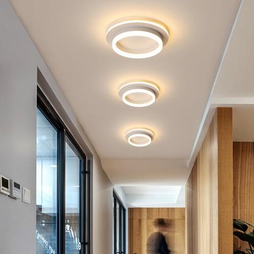 LED Deckenlampe Modern  in Ringoptik  Warmweiß Deckenleuchte Rund Innen Deckenbeleuchtung aus Aluminium