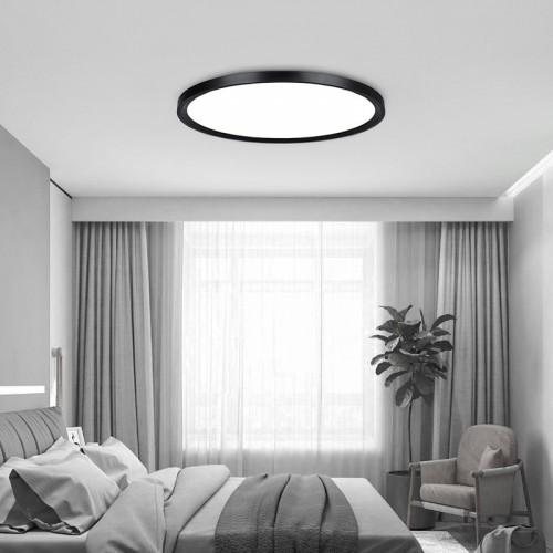 Ultra-dünne Deckenleuchte modern Einfachheit runder LED Stärke 6cm Deckenleuchte für Wohnzimmer Schlafzimmer Restaurant Studie Zimmer , 60cm stufenlos dimmen