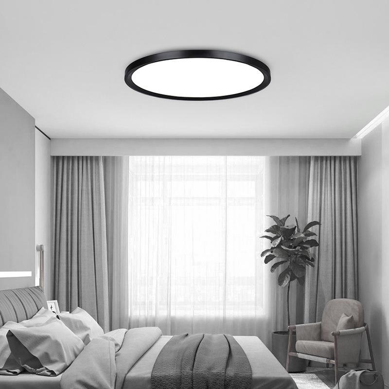 Ultra-dünne Deckenleuchte modern Einfachheit runder LED Stärke 6cm  Deckenleuchte für Wohnzimmer Schlafzimmer Restaurant Studie Zimmer , 60cm  stufenlos ...